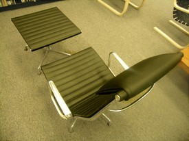 Eames leather chair from the Aluminum Group