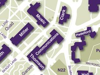 Padelford on Campus Map