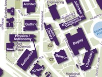 Physics-Astronomy on Campus Map