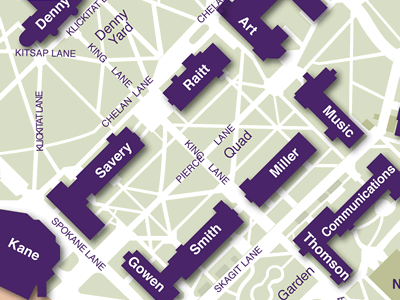 Liberal Arts Quad on Seattle Campus Map