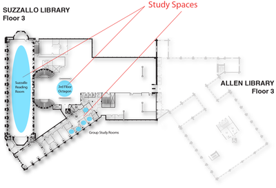 Suzzallo Study Spaces floor 3