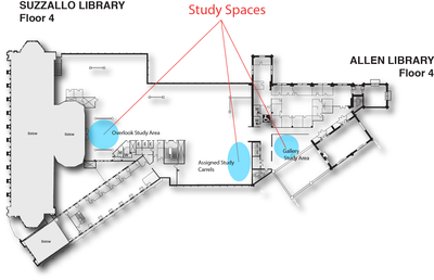 Suzzallo 4th floor study spaces