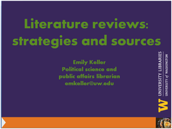 Literature Review Workshops for Master of Public Affairs (MPA) Students